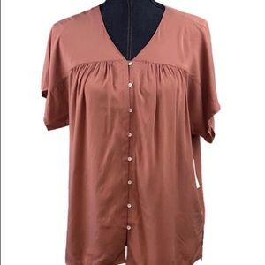Old Navy Womans Banded-Collar Short Sleeve Blouse